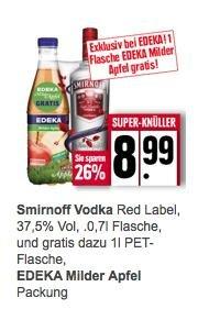 Smirnoff 0,7l + 1l Apfelsaft @ Edeka Minden Hannover (evtl. bundesweit)