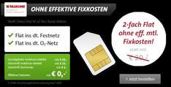 Festnetz & o2 Sprach-Flat von Sparhandy fuer nix! 0€!