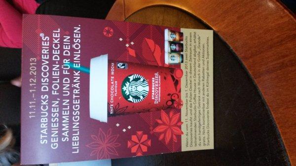 """Starbucks 2 Discoveries im Supermarkt kaufen ein Heißgetränke in Größe""""grande"""" for free bei Starbucks"""