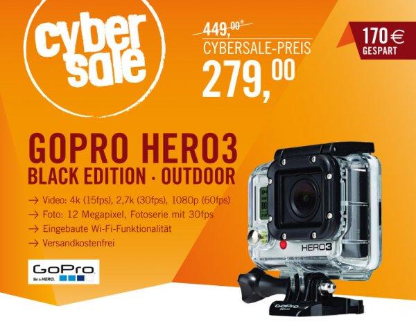 GoPro Hero 3 Black Edition - 279 EUR - cyberport/cybersale (VK frei)