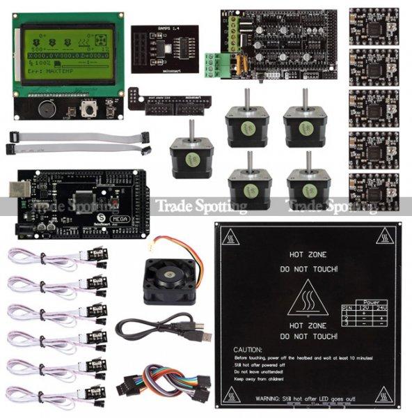 Ramps 1.4  + Mega2560 R3 LCD 12864 3D-Drucker Kontroller Entwicklungsboardsatz für RepRap