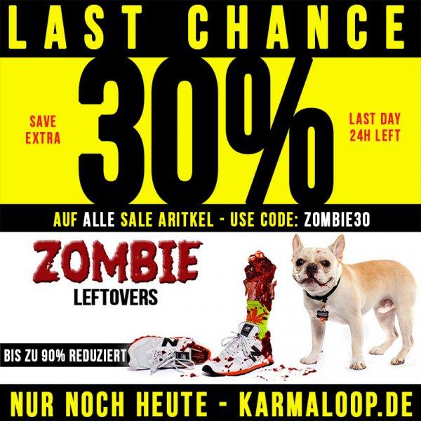 30% extra auf bereits Reduziertes bei Karmaloop.de