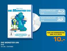 [Saturn Wesel Lokal] Die Monster Uni DVD 10€ Tagesangebot 13.11.2013