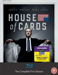 House of Cards – Season 1 Blu-ray Amazon.co.uk für  25,14€ inkl, Versand