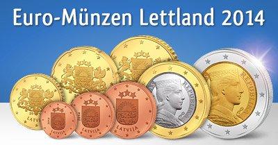 Euro-Kursmünzensatz Lettland zum Tauschpreis