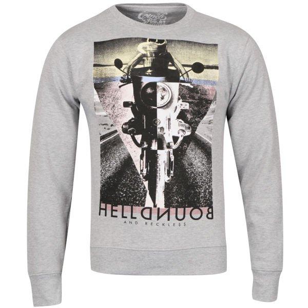 Cinch Men's Reckless Photo Print Crew Neck Sweatshirt - Grey Marl für 12€@Zavvi