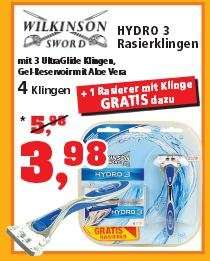 [Thomas Phillips] - Wilkinson Hydro 3 - Rasierer + 5 Klingen = 3,98 €