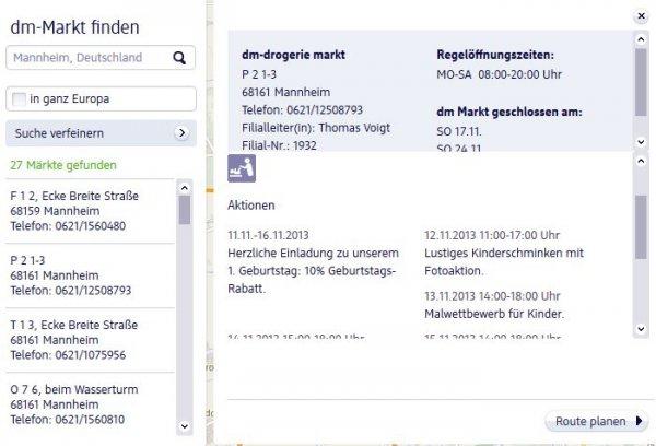 [Lokal Mannheim Quadrate] DM 10% Geburtstagsrabatt vom 11.11.-16.11.