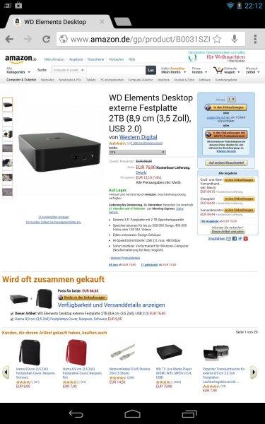 WD Elements Desktop externe Festplatte 2TB (8,9 cm (3,5 Zoll), USB 2.0)