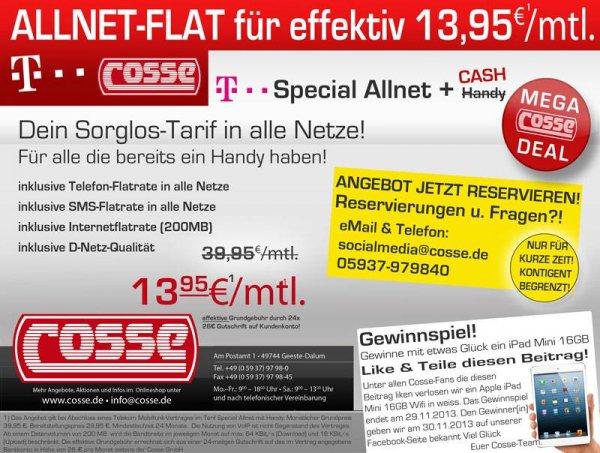 Original Telekom ALLNet Flat effektiv 13,95/mtl.