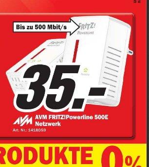 [MM Erding]  AVM FRITZ!Powerline 500E Set 2 Stück