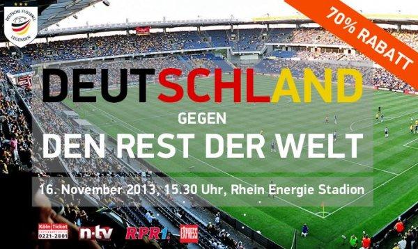 70% Rabatt auf Fußball-Legenden im RheinEnergieStadion Köln
