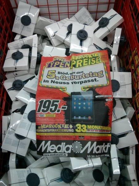 Lokal MM Neuss, ipad mini 16gb 195€/ Samsung Tab3 10 wifi für 275€