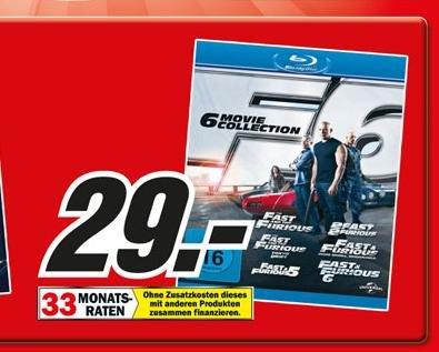 [Lokal MM Hamburg] Fast & Furious 1-6 (Blu-ray Box) für 29,00 EUR (nur am 18.11.13)