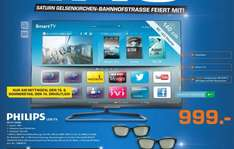 [Saturn Gelsenkirchen]  Philips 55PFL6008K/12 140 cm (55 Zoll) Ambilight 3D-LED-Backlight-Fernseher, EEK A++ (Full HD, 500Hz PMR, DVB-T/C/S2, CI+, WLAN, Smart TV, HbbTV) 999€