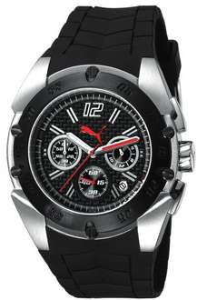 Puma Time Herren-Armbanduhr XL Crash Silver