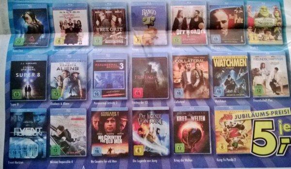 [euronics] Mölln offline lokal verschiedene BluRay- Filme für 5 Euro