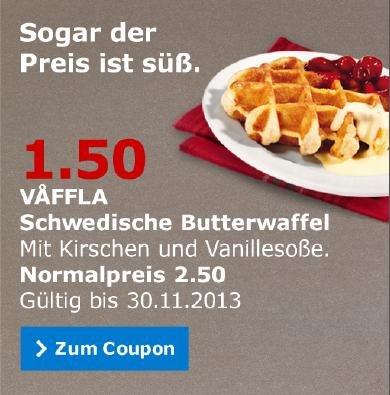 IKEA - Schwedische Butterwaffeln 1,50 € statt 2,50 € bis 30.11.
