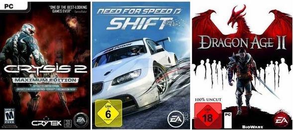 [AMAZON] Crysis 2 Maximum, Dragon Age 2 und mehr Games bei den Amazon PC Weekend Downloads