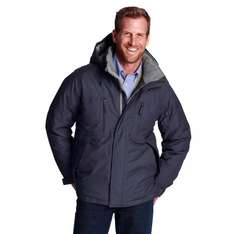 Lands' END Expeditions-Daunenjacke schwarz und grau, XL