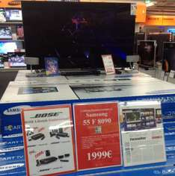 [Lokal Saturn Moers] Samsung 55F8090 für 1999€
