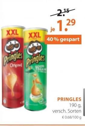 Pringles + Videobuster Code für 1,29€ im Angebot bei Müller