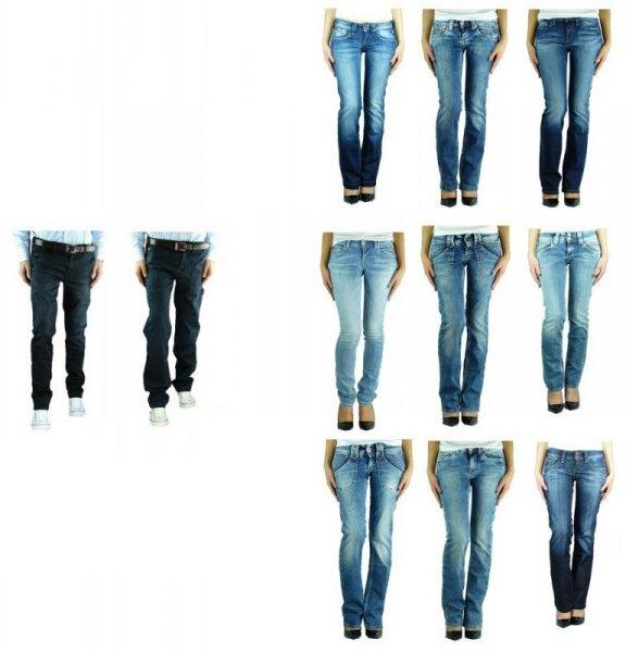 PEPE JEANS Damen & Herren Jeans Hose Toku, Midonna, Perival, Quayle, New Brooke