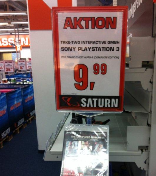 [Lokal] GTA 4 complete edition PS3 Saturn Hilden 9,99€