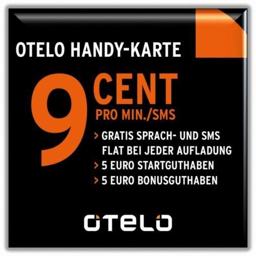 KOSTENLOS: otelo Prepaid SIM-Karte mit 5,00 EURO Startguthaben