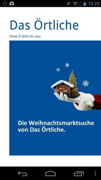 Weihnachtsmärkte App für Android/iOS