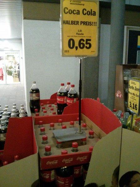 [Lokal?] Coca-Cola 1,5l für 0,65€ bei E-Center Wachtberg