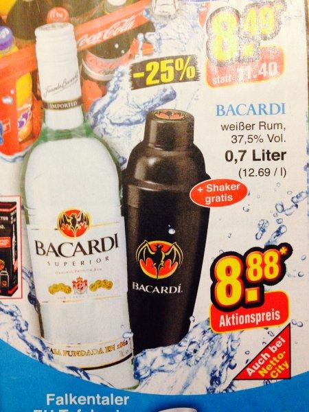 Netto (ohne Hund) - Bacardi 0,7 l + gratis Shaker