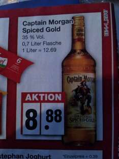 {Offline Regional Edeka} Captain Morgan Gold 0,7 L 8,88€