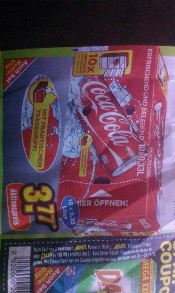Coca Cols 0,33l  Dosen, 10er Pack nur 3,77€  bei Netto ohne Hund,nur am Samstag 23.11