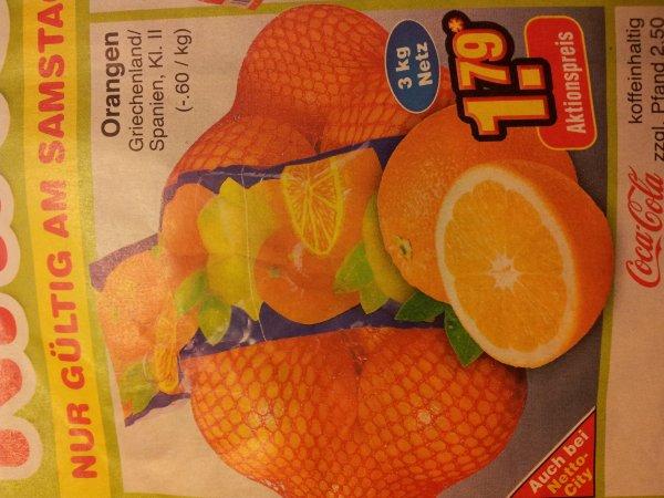 Netto Hammer: 3kg Orangen kl.2 am 23.11.13!