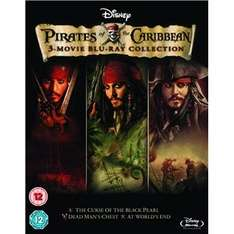 (UK) Fluch der Karibik - Pirates of the Caribbean 1-3 [3 x Blu-ray] für umgerechnet ca. 10,79 € @ play (Zoverstocks)