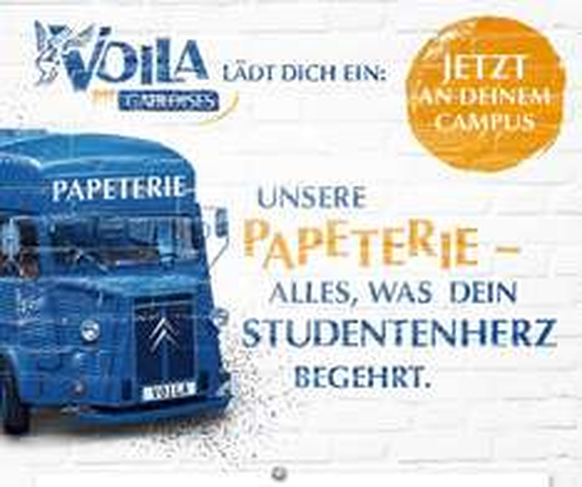 Gratis Zigarettenschachtel, Studentenfutter und Schreibwaren-Utensilien in Marburg