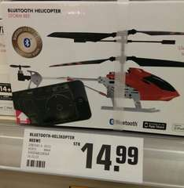 "[Lokal Toom Frankfurt Nordwestzentrum] BeeWi Bluetooth Helicopter ""Strom Bee"" für Apple iPhone/iPad"