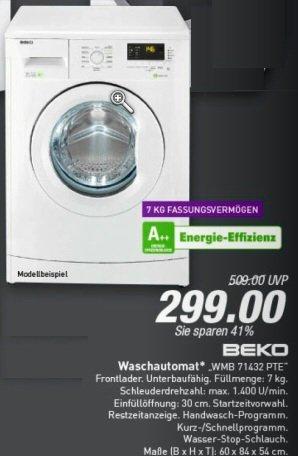 BEKO Waschmaschine Frontlader WMB 71432 PTE weiß ( im Prospekt Marktkauf für 48155 Münster - Loddenheide in Westf.)
