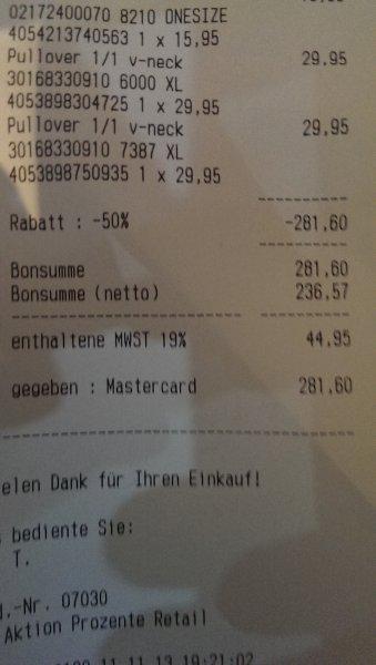 [Karlsruhe] 50% Rabatt auf TomTailor