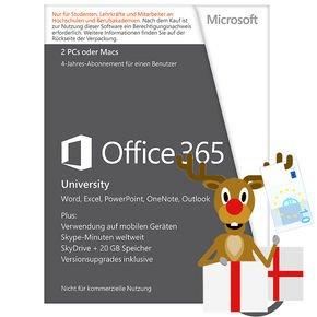 Micrsoft Office 365 University für 53,99 EUR 4 Jahre lang!