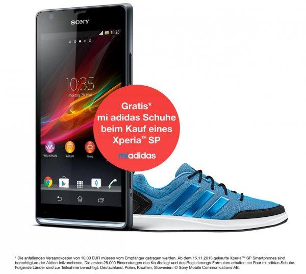 """Sony Xperia SP kaufen - """"gratis"""" ein Paar mi adidas Schuhe"""
