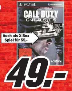 [Lokal] PS3 Call of Duty 10 - Ghosts für 49€ im Media Markt Kaiserslautern