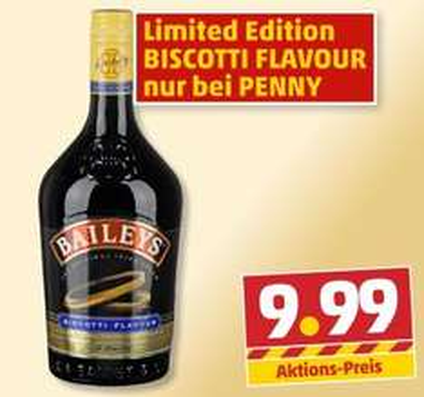 [Penny bundesweit] BAILEYS Biscotti 1-Liter-Flasche für 9,99€