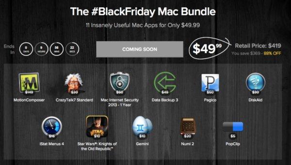 (MAC) Das BlackFriday Mac Bundle mit bis zu 11 Apps für nur 37,02€