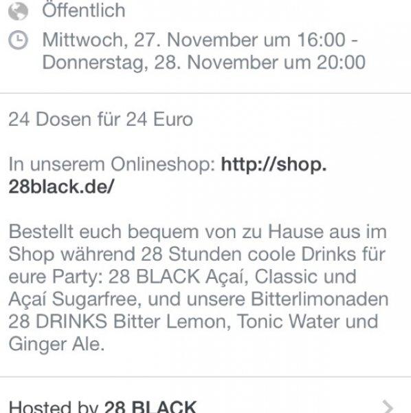 28 Black, 24er Tray, ab 27.11.13 16 Uhr