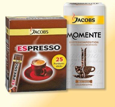Penny (Bundesweit): JACOBS Espressosticks oder Momente Kaffeesticks für 1,69€