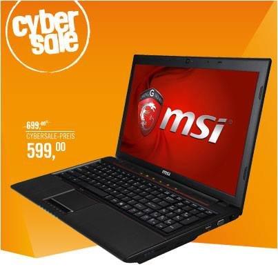 MSI GP60-i740M245FD - i7-4700MQ Gaming Notebook mit mattem Full-HD Display
