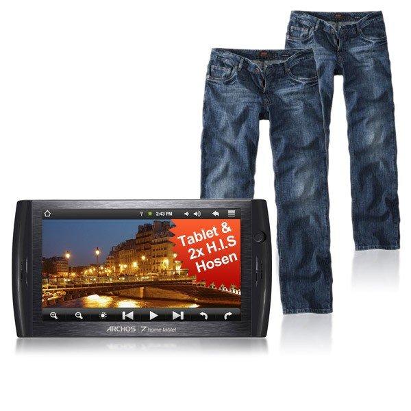 Jeans und Tablet, zusammen für 66€ bei eaby