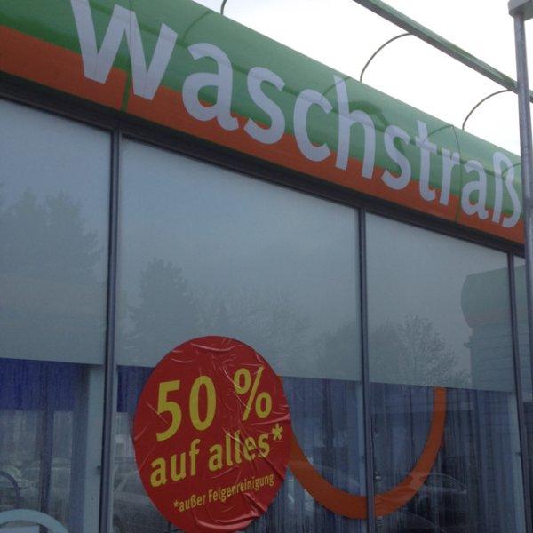 Lokal: Ennepetal am Marktkauf gibt es 50% auf Autowäsche